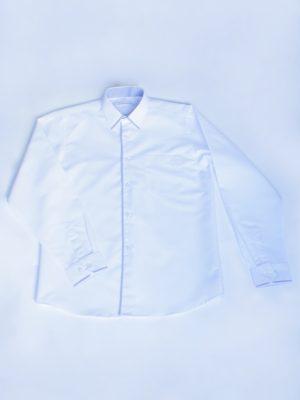 Рубашка Для Мальчика Белая С Окантовкой вид
