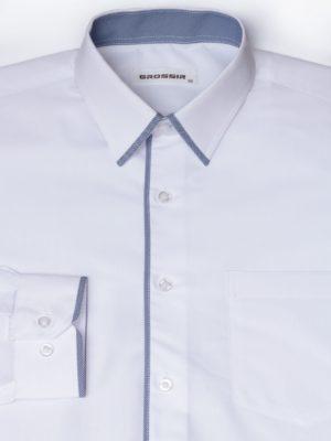 Рубашка Для Мальчика Белая С Окантовкой