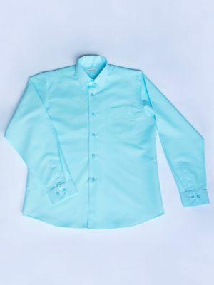 Рубашка Для Мальчика Мятная Простая вид