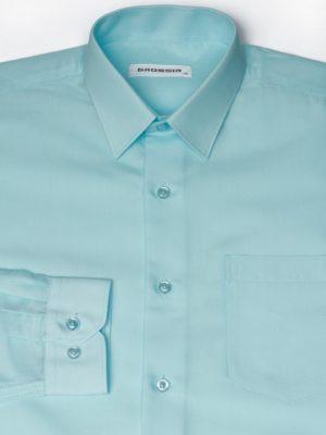 Рубашка Для Мальчика Мятная Простая