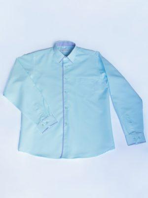Рубашка Для Мальчика Мятная С Окантовкой вид