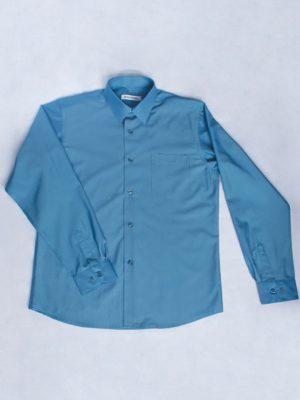 Рубашка Для Мальчика Темно-Голубая вид