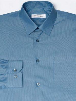 Рубашка Для Мальчика Темно-Голубая