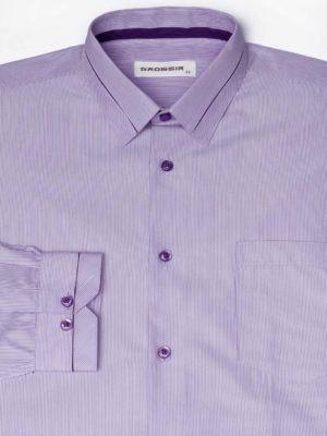 Рубашка Для Мальчика Фиолетовая Рябь