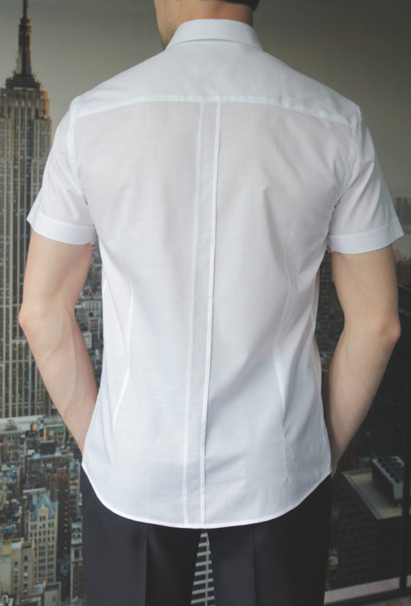 Белая легкая рубашка Vester 80216 S сзади