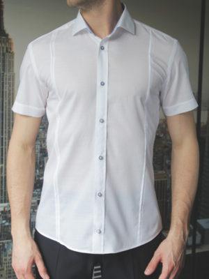 Белая легкая рубашка Vester 80216 S спереди