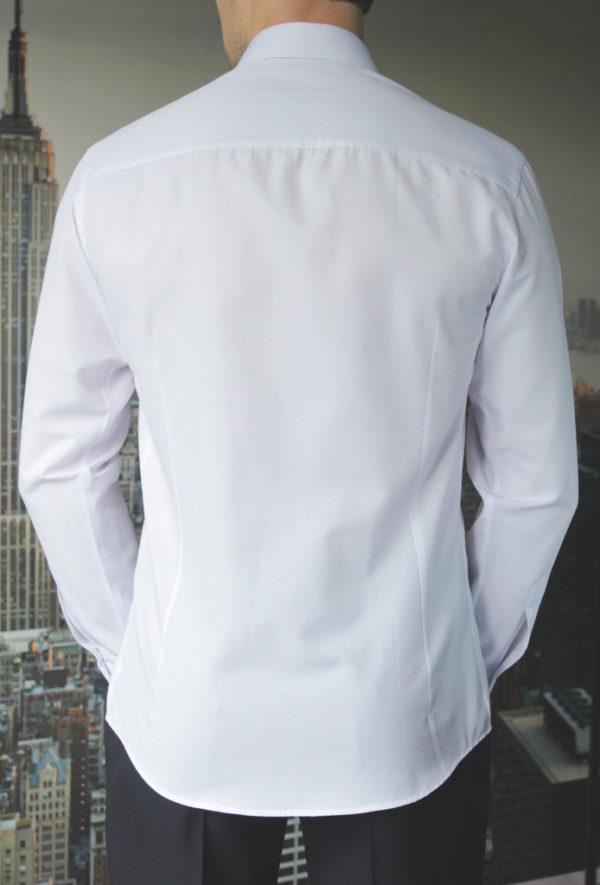 Белая подростковая рубашка Vester 68314 K сзади