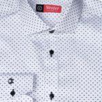 Белая рубашка с черным узором Vester 86416 E