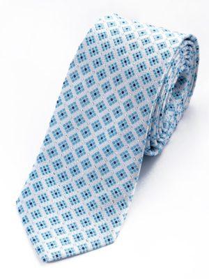 Галстук белый с голубым 100115-01