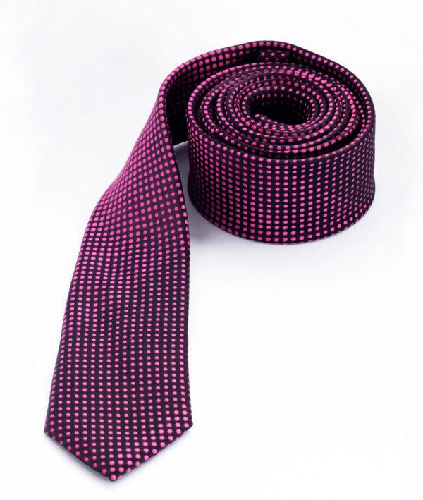 Галстук розовый в крапинку 100715-01