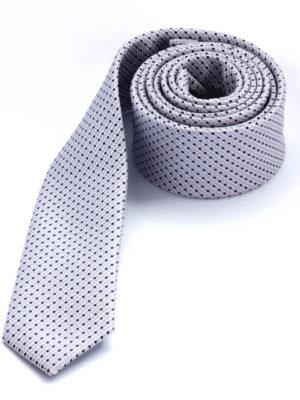 Галстук серебро 100815-01