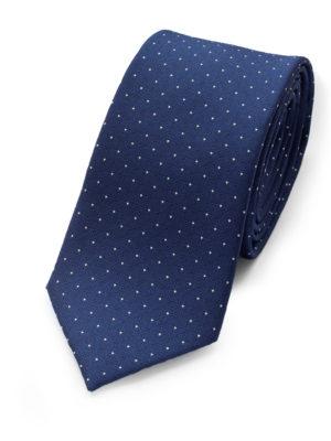 Галстук синий в квадрат и крапинку 101518-04