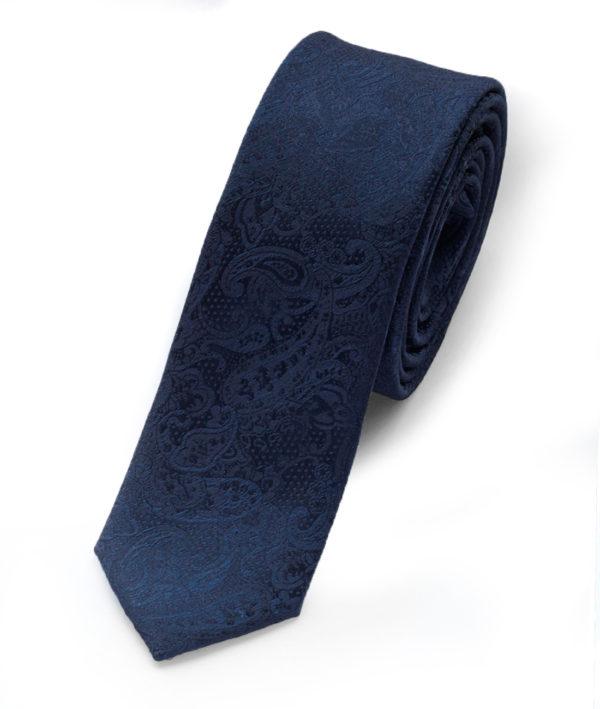 Галстук синий с рисунком 102318-04