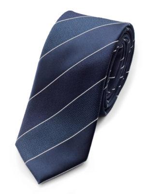 Галстук синий с фактурными вставками 102018-04