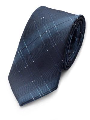 Галстук темно-синий с крапинками 103018-06