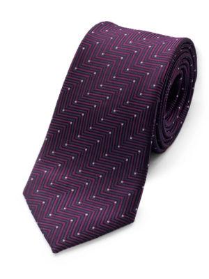 Галстук фиолетовый геометрический 103118-06