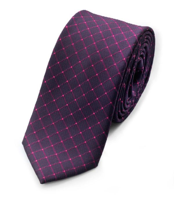Галстук черный в фиолетовый ромбик 103418-06