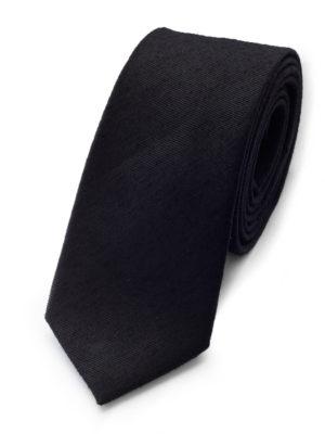 Галстук черный шерстяной 103618-09