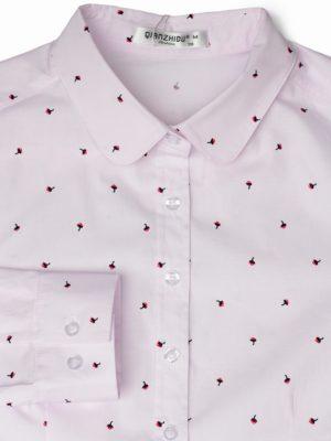 Розовая рубашка с малиной фон