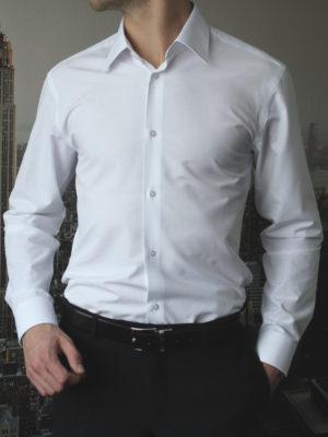 Рубашка белая в полоску Vester 68814W_17