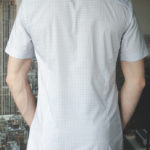 Рубашка в голубую клетку Vester 72916 W сзади