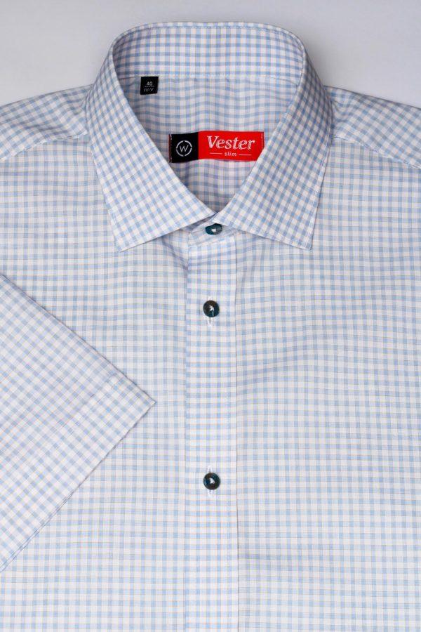 Рубашка в голубую клетку Vester 72916 W