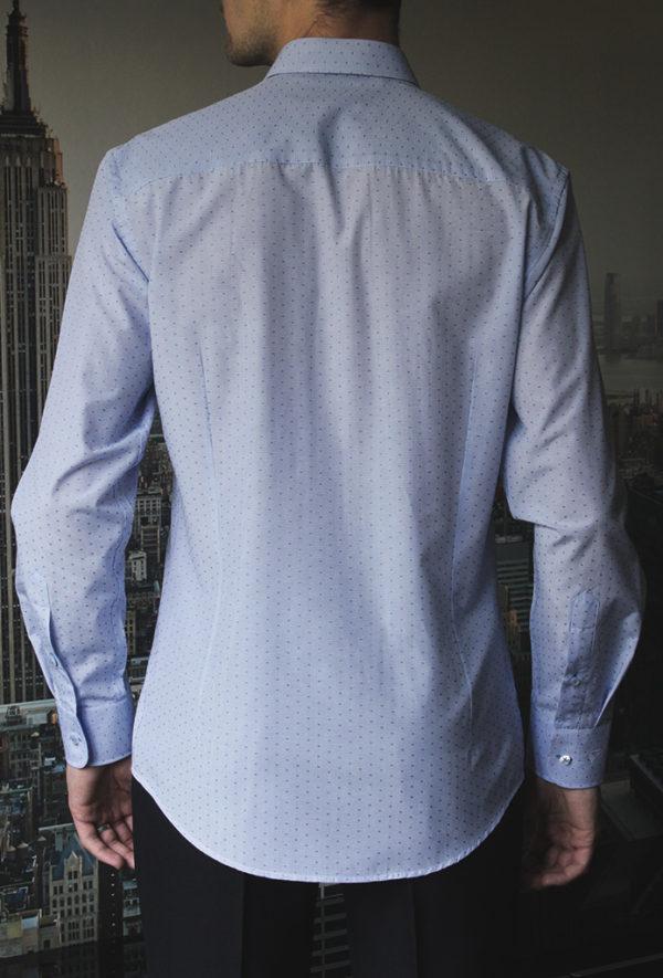 Рубашка в голубую клетку Vester 93014 S сзади