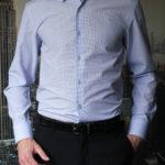Рубашка в голубую клетку Vester 93014S_06