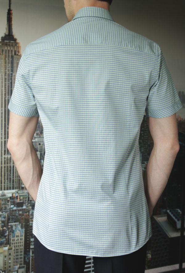 Рубашка в зеленую клетку Vester 86118 S сзади