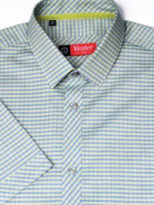 Рубашка в зеленую клетку Vester 86118 S