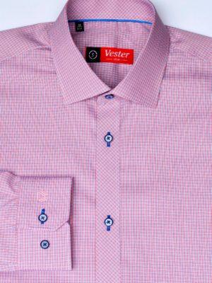 Рубашка в красную клетку c голубыми линиями Vester 86816 S