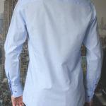 Рубашка в мелкую голубую клетку Vester 86216 S сзади