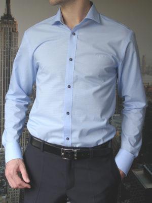 Рубашка в мелкую голубую клетку Vester 86216S_01