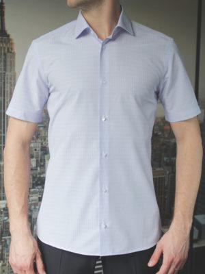 Рубашка в мелкую синюю клетку Vester 72914 N спереди