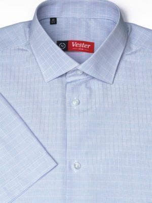 Рубашка в мелкую синюю клетку Vester 72914 N