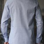 Рубашка в мелкую черно-синюю клетку Vester 87216 S сзади