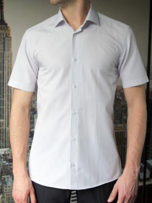 Рубашка в серую полоску Vester 79614 W спереди