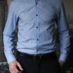 Рубашка в синюю клетку с голубыми линиями Vester 92416S_01