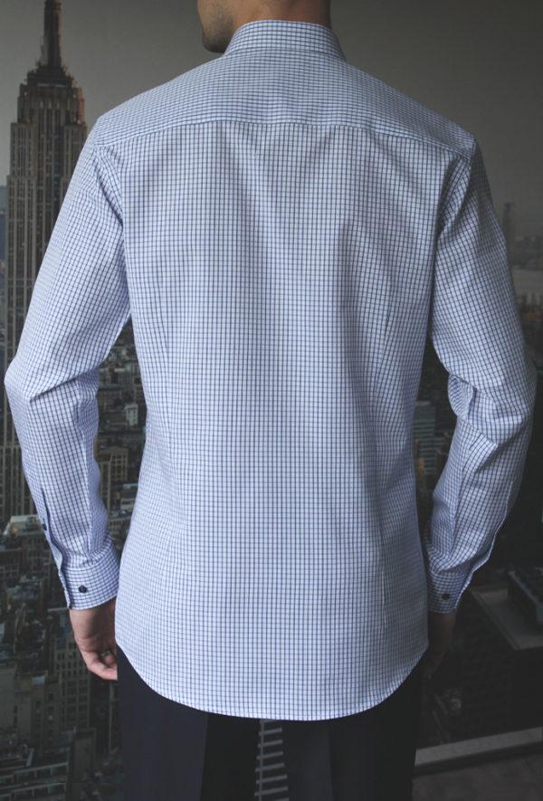 Рубашка в синюю клетку Vester 86616 W сзади