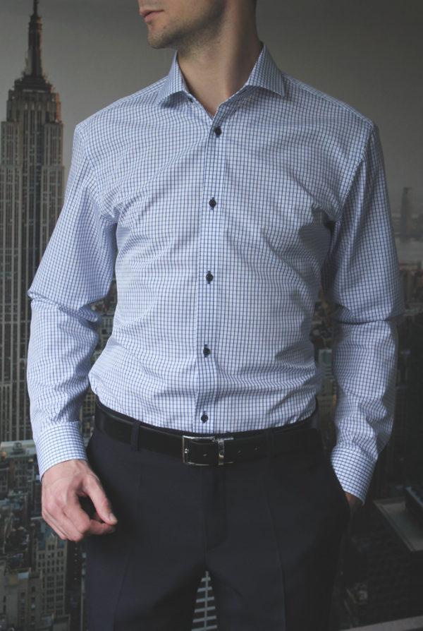 Рубашка в синюю клетку Vester 86616W_03