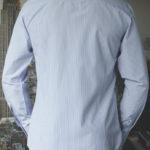Рубашка в синюю полоску Vester 71214 W сзади