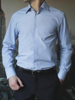 Рубашка в синюю полоску Vester 71214W_02