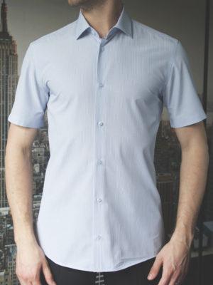 Рубашка в синюю полоску Vester 79614 W спереди
