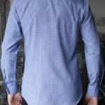 Рубашка в темно-синюю клетку Vester 93814 S сзади