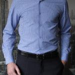 Рубашка в темно-синюю клетку Vester 93814S_08