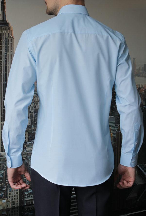 Рубашка в тонкую голубую полоску Vester 768814 W сзади