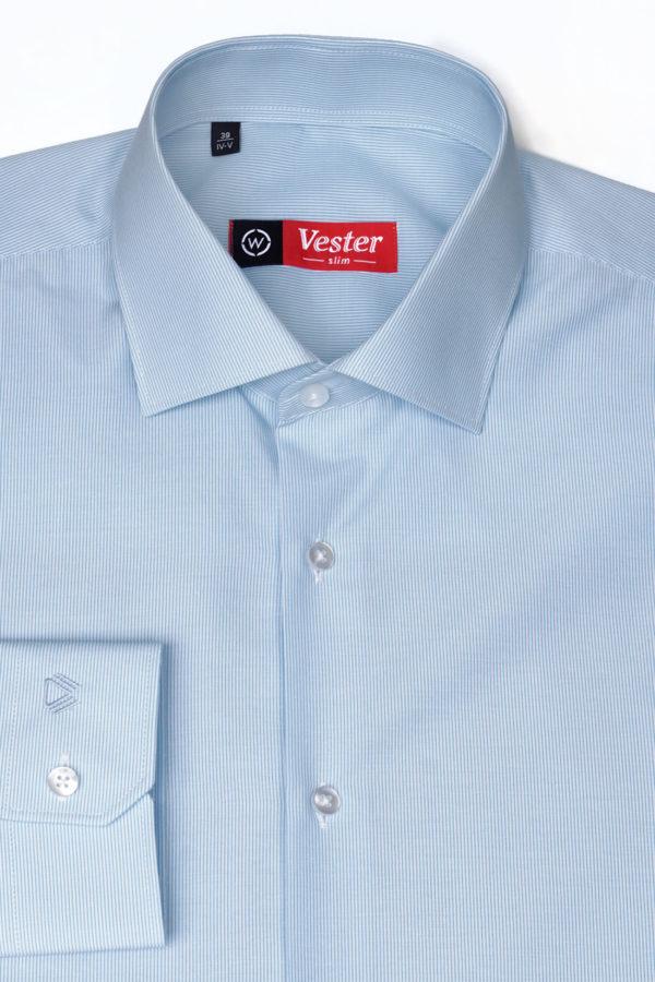 Рубашка в тонкую голубую полоску Vester 768814 W
