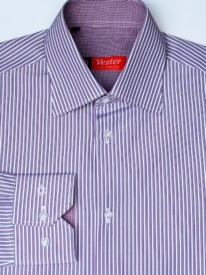 Рубашка в фиолетовую полоску Vester 71214 W