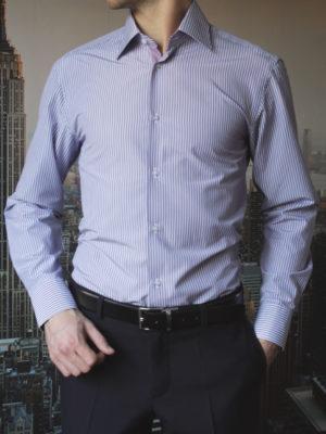 Рубашка в фиолетовую полоску Vester 71214W_03