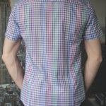 Рубашка в цветную клетку Vester 85916 E сзади